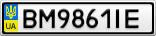 Номерной знак - BM9861IE