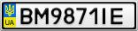 Номерной знак - BM9871IE