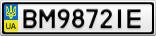 Номерной знак - BM9872IE