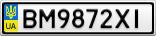 Номерной знак - BM9872XI