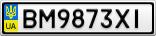 Номерной знак - BM9873XI
