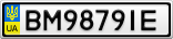 Номерной знак - BM9879IE