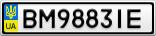 Номерной знак - BM9883IE