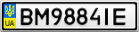 Номерной знак - BM9884IE