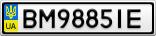 Номерной знак - BM9885IE