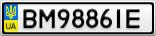 Номерной знак - BM9886IE