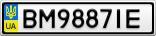 Номерной знак - BM9887IE