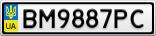 Номерной знак - BM9887PC