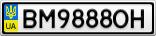 Номерной знак - BM9888OH