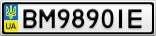 Номерной знак - BM9890IE