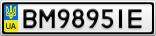 Номерной знак - BM9895IE