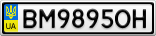 Номерной знак - BM9895OH