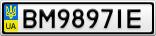 Номерной знак - BM9897IE