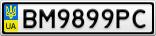 Номерной знак - BM9899PC