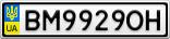 Номерной знак - BM9929OH