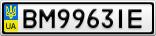 Номерной знак - BM9963IE