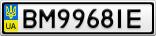 Номерной знак - BM9968IE