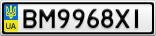 Номерной знак - BM9968XI