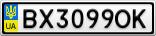 Номерной знак - BX3099OK