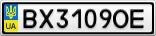 Номерной знак - BX3109OE