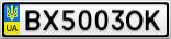 Номерной знак - BX5003OK