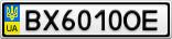 Номерной знак - BX6010OE