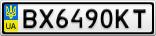 Номерной знак - BX6490KT