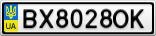 Номерной знак - BX8028OK
