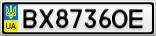 Номерной знак - BX8736OE