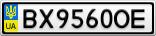 Номерной знак - BX9560OE