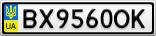 Номерной знак - BX9560OK