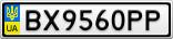 Номерной знак - BX9560PP
