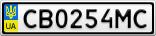 Номерной знак - CB0254MC