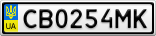 Номерной знак - CB0254MK