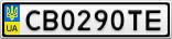 Номерной знак - CB0290TE