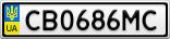 Номерной знак - CB0686MC