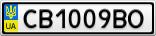 Номерной знак - CB1009BO