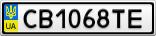 Номерной знак - CB1068TE
