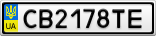 Номерной знак - CB2178TE