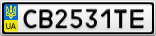 Номерной знак - CB2531TE