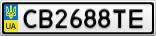 Номерной знак - CB2688TE