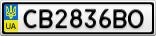 Номерной знак - CB2836BO