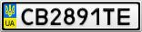 Номерной знак - CB2891TE