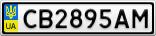Номерной знак - CB2895AM