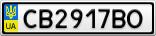 Номерной знак - CB2917BO