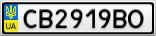 Номерной знак - CB2919BO