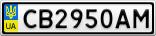 Номерной знак - CB2950AM