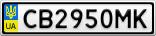 Номерной знак - CB2950MK