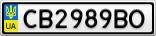 Номерной знак - CB2989BO