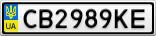Номерной знак - CB2989KE